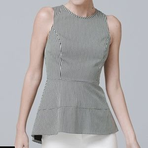 White House Black Market | Gingham Woven Blouse 4